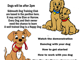 Poster about dog show