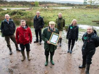 Official presentation of National Nature Reserve status to the Pebblebed Heaths