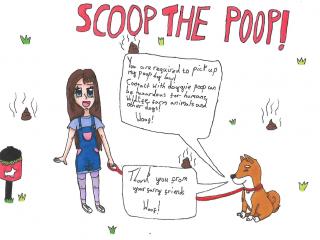 Scoop the Poop poster design