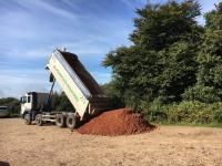 Tipper truck during works on the heaths
