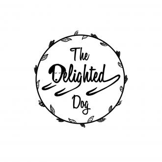 The Delighted Dog business logo
