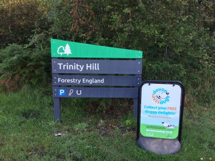 Sign for Trinity Hill